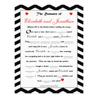 Bridal Shower Wedding Libs Game - Chevron 21.5 Cm X 28 Cm Flyer