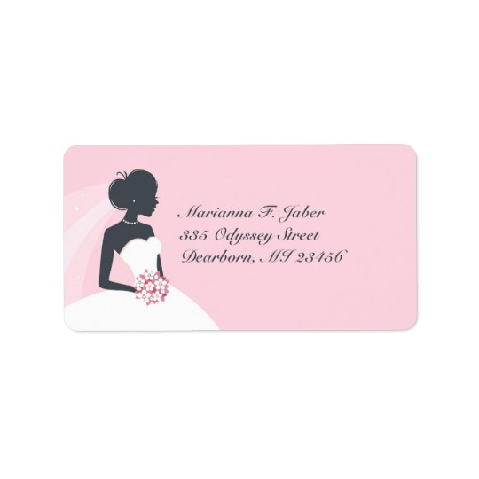 Bridal Shower Wedding Shipping Address Labels