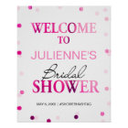 Bridal Shower Welcome Sign | Magenta Confetti