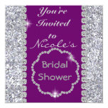 Bridal Shower with CRYSTALS Invitation