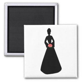 Bridal Silhouette Fridge Magnet