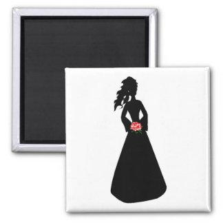 Bridal Silhouette III Refrigerator Magnets
