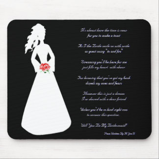 Bridal Silhouette Will You Be My Bridesmaid I Mouse Pad
