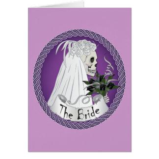Bridal Skull - purple Greeting Card
