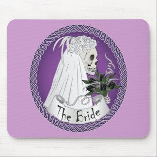 Bridal Skull - purple Mousepads