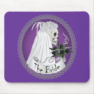 Bridal Skull - Purple Mouse Pads