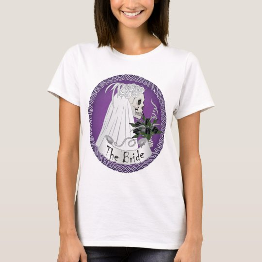 Bridal Skull - purple T-Shirt