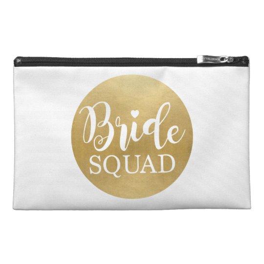 Bridal Squad Gold Bag Bridal Shower Bachelorette Travel
