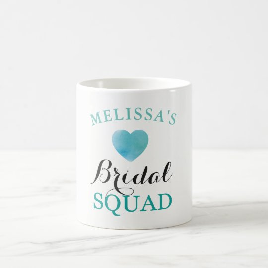 Bridal Squad Hen Party Bridal Blue Heart Cup