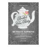 Bridal Tea Party | Bridal Shower 13 Cm X 18 Cm Invitation Card