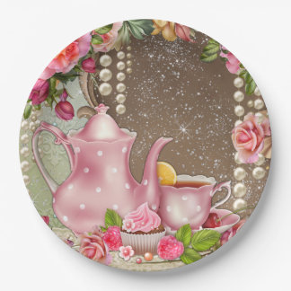 Bridal Tea Party Bridal Shower 9 Inch Paper Plate