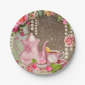 Bridal Tea Party Bridal Shower Paper Plate