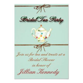 "Bridal Tea Party Shower Invitation 4.5"" X 6.25"" Invitation Card"