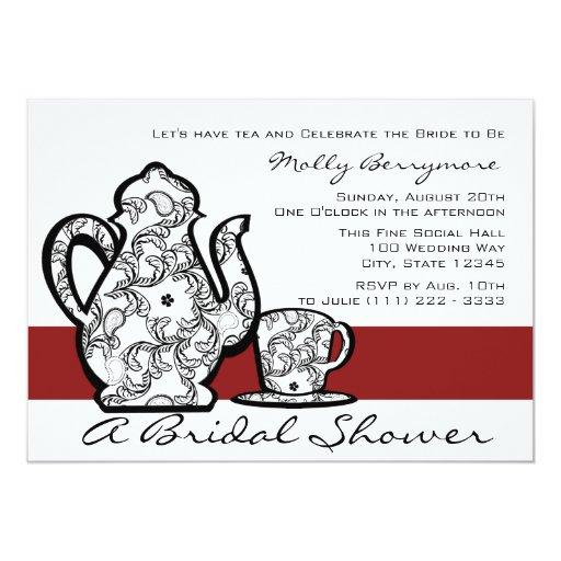 Bridal Tea Shower 5x7 Paper Invitation Card