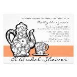 Bridal Tea with Changeable Colour Personalised Invites