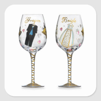BRIDAL TOASTING GLASSES STICKER
