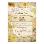 "Bridal Travel Shower theme in cocoa and cream 5"" X 7"" Invitation Card"