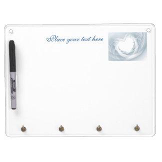 Bridal Veil Dry Erase Board With Key Ring Holder