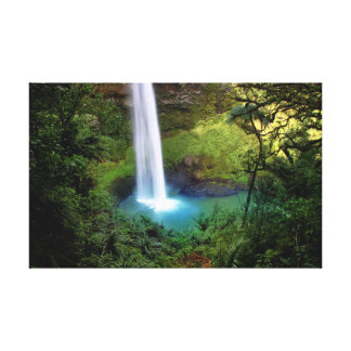 Bridal Veil Fall Stretched Canvas Prints