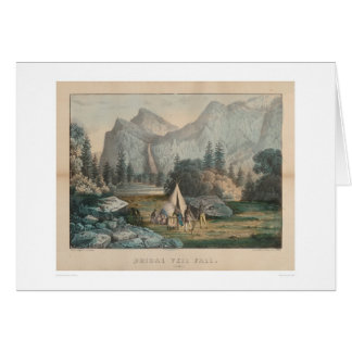 Bridal Veil Fall, Yosemite (1303) Greeting Card