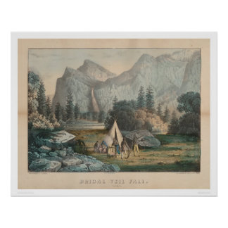 Bridal Veil Fall, Yosemite (1303) Poster
