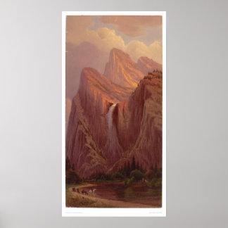 Bridal Veil Fall, Yosemite Valley (0128A) Poster