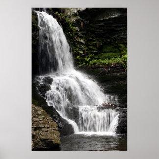 Bridal Veil Falls - Bushkill Falls Pennsylvania Poster