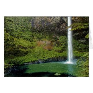 Bridal Veil Falls, NZ Greeting Card