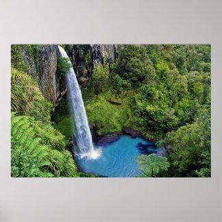 Bridal Veil Falls, NZ Poster