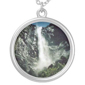 Bridal Veil Falls Round Pendant Necklace