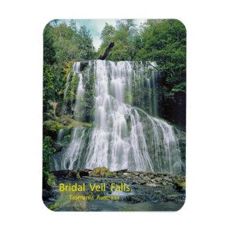 Bridal Veil Falls, Tasmania, Australia Rectangular Photo Magnet