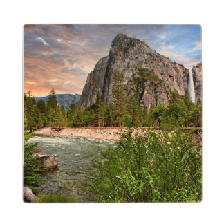 Bridal Veil Falls Wood Coaster