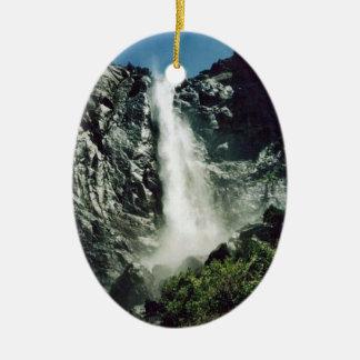 Bridal Veil Falls- Yosemite Ceramic Oval Decoration