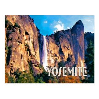 Bridal Veil Falls Yosemite National Park Postcard