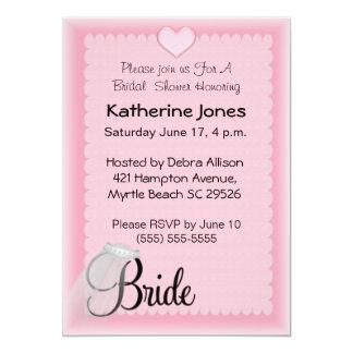 "Bridal Veil  Shower Invitations 5"" X 7"" Invitation Card"