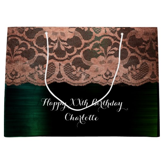 Bridal Wedding Birthday Metallic Cali Rose Gold Large