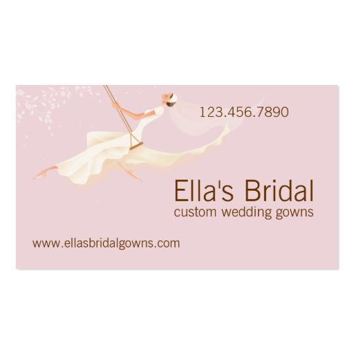 Collections of wedding gown shop business cards bridal wedding gown business card reheart Images