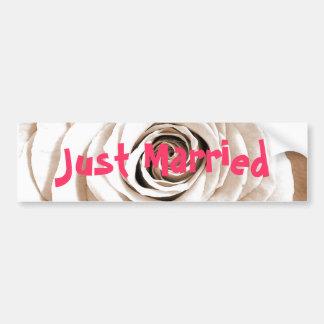 Bridal White Car Bumper Sicker Bumper Sticker