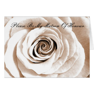 Bridal white Matron Of Honour Card