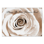 Bridal white Please Be Our Flower Girl Greeting Card