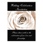 Bridal White wedding invitation.