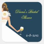 Bridal wine brunette on navy