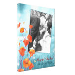 BridalHeaven Floral Wedding Photo Canvas (11x14) Gallery Wrapped Canvas