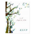 BridalHeaven Lovely Night Wedding RSVP Cards Postcards