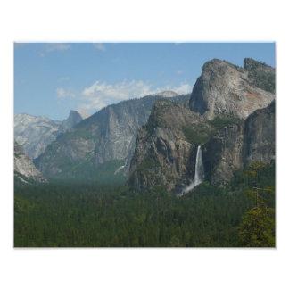 Bridalveil Falls and Half Dome at Yosemite Photo Print