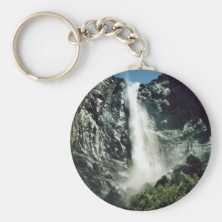 Bridalveil Falls Basic Round Button Key Ring