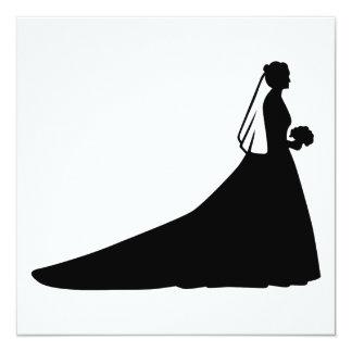 Bride 13 Cm X 13 Cm Square Invitation Card