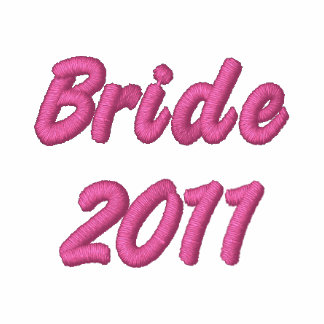 Bride 2011 embroidered zipped hoodie