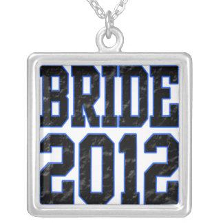 Bride 2012 square pendant necklace
