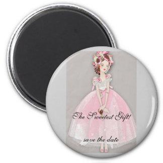 bride 2 6 cm round magnet